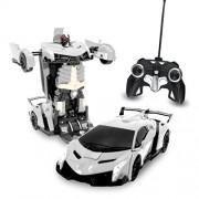 Transformers RC Silver Lamborghini Veneno Robot Remote Control Transforming Autobot