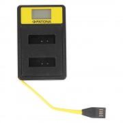 Patona Incarcator Smart Dual USB/USB-C/Micro-USB Dual cu LCD pentru Canon NB-13L