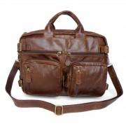 Delton Bags Sac en cuir marron clair multifonction Tino