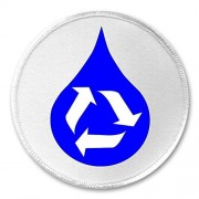 """Blue Water Recycle Recycling Symbol 3"""" Sew On Patch Earth Environment"""