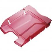 helit Briefablage, Höhe 70 mm, VE 48 Stk BxT 275 x 355 mm, transparent rot