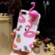 Para IPhone 8 Plus Y 7 Más Relieve Relieve Yuca Flamingo Patron Cobertura Completa De Proteccion Volver Funda
