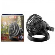 Climature 2-in-1 Portable Multi-Purpose Fan with LED Light Black