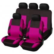 Univerzális üléshuzat garnitúra pink-fekete (osztható) Exlusive