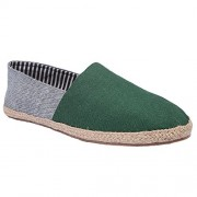 Live Ur Style Men Green n Grey Denim combi styled Espadrilles Casual Shoes