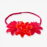 Gevlochten headband voor meisjes met 3 bloemen
