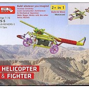Educational toys and Building Blocks – Helicopter and Fighter Robotics Toy for Kids/ Line Block toy making/ Brain and mind development toys/ construction toys for kids/ Creative Toy making for children/Educational Learning Toys/ Age - 7 to 16 years, Educa