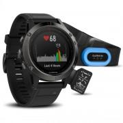 GPS мултиспорт часовник Garmin Fenix 5 Sapphire - 010-01688-32 с HRM-Tri пулсомер