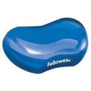 Suport pentru mana cu gel Crystal Flex Fellowes albastru