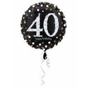 Vegaoo Happy Birthday 40-åringen - Aluminium ballong 45 cm One-Size