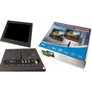 "Mini Monitor 8"" Av1\Av2 HDMI VGA USB per PC e videosorveglianza e retromarcia"
