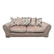 Tuscany 3+2 Luxury Fabric Sofa - 3 Colours - Light Brown