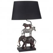 Maisons du Monde Lámpara de animales salvajes y pantalla negra