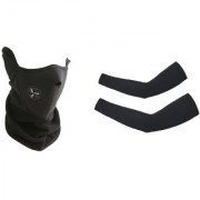 MP Summer Bike Rider Face Mask And Arm Sleeves -Black