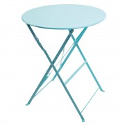 Bolero ronde stalen opklapbare tafel turquoise 59,5cm