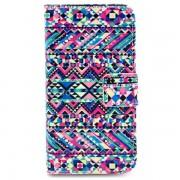 Bolsa estilo Carteira para iPhone 4 / 4S - Padrão Tribal