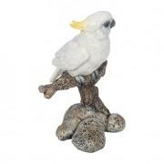 Estátua Pássaro Galho P Branco Greenway