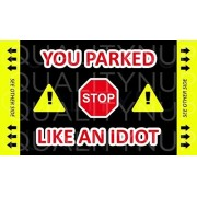 You Suck at Parking - You Parked Like an Idiot Cards - Bad Parking - Waterproof and Tear Resistance Paper (Business Card Size)
