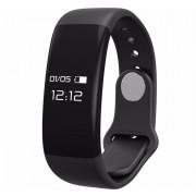 Bratara fitness smart RegalSmart H30-172 BT 4.0, monitorizare dinamica puls, Android, iOS, intrari apeluri, negru