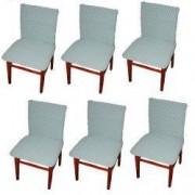 Set 6 huse elastice bicolore/gofrate cu bumbac fara volan pentru scaun TRADE STORE DELIVERY Bumbac si Poliester Verde menta/smarald
