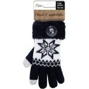 Touchscreen gebreide winter handschoenen Nordic/zwart voor dames - Smartphone handschoenen