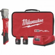 Milwaukee M12 FUEL 1/2Inch Right Angle Impact Wrench with Pin Detent Kit - 2 Batteries, Model 2565P-22