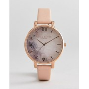 Olivia Burton OB16SP03 Semi Precious Stone Leather Watch In Blossom-Pink - female - Pink - Size: No Size