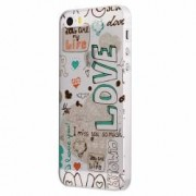Husa Silicon Transparent Slim Love February Apple iPhone 5 5S SE