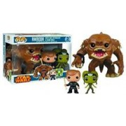 Set Figurine POP Star Wars Rancor Luke & Oola