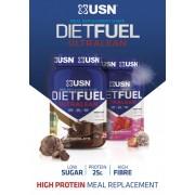 USN Diet Fuel Ultralean étkezést helyettesítő fehérje por 1kg több ízben (tejsavófehérje-koncentrátum, kálcium kazeinát, szójafehérje izolátum)