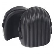 [in.tec]® Térdvédő munkavédelmi térdpárna 2 db-os szett poliuretán 14,5 x 14,5 cm fekete