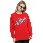 Absolute Cult DC Comics Femmes-apos;s Wonder Woman 84 Neon Wonder Woman Sweatshirt Noir XX-Large