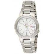 Seiko Herren Analog Automatik Uhr mit Edelstahl Armband SNKA01K1