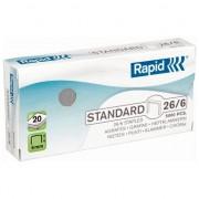 Capse Rapid, standard, 26/6, 20 coli