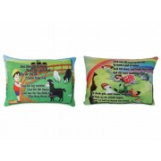 Deals India baa baa black sheep poem cushion (15x10 Inch) and Jack and jill poem cushion (15x10 Inch) combo