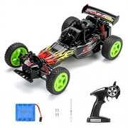 RC Car Remote Control Cars TOQIBO F1 25KM/H High Speed Racing Buggy 1:16 Scale 2.4GHz 50M 4WD Fast Rock Off-Road Crawler Truck Radio Controlled Electric Vehicle With Light and 4 More Lock Catch