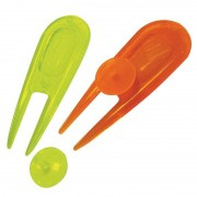 Masters Neon PitchFork and Ball Markers 2 Pack