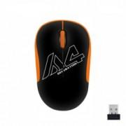 Мишка A4tech G3-300N V-Track, безжична, оптична (1000 dpi), USB, черна/оранжева