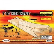Puzzled F-117 Nighthawk Wooden 3D Puzzle Construction Kit