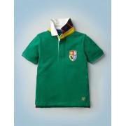 Mini Bergwiesengrün Klassisches Hogwarts-Rugbyshirt Jungen Boden, 116, Green
