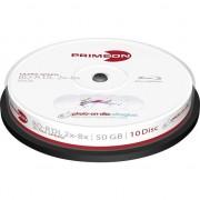 Medii de stocare primeon BD-R DL 50 GB 8x, Blu-ray 10 sztuk (2761317)