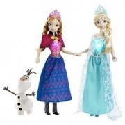 Tabu Toys World 10 inch Frozen Fever Anna elsa +1 pcs Figure Dolls with Olaf Barbie Cinderella Baby Girl