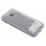 Zilveren Liquid Glitter Case voor de Samsung Galaxy A3 (2017)