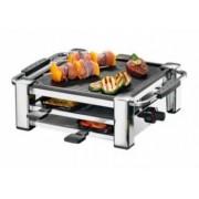 Gratar electric Rommelsbacher Raclette Fashion 1000W Negru-argintiu