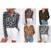 Hangzhou Yuxi Trade Co. Ltd (t/a PinkPree) £9 for a ladies loose leopard print blouse in Khaki, Pink, Green, White, Grey or Brown in UK sizes 10-18 from PinkPree!