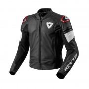REV'IT! Motorradjacke, Motorradschutzjacke REV'IT! Akira Lederjacke schwarz/rot 56 rot