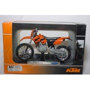Welly 1:18 Ktm 525 Exc Orange Motorcycle Model Collection (Orange) (L x W x H),11.5 x 5.5 x 4.5