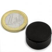 Magnet neodim disc, diametru 22 mm, putere 7 kg, ac. cauciuc