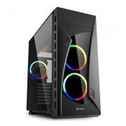Sharkoon Night Shark RGB Black Mid Tower Case (M-ITX/M-ATX/ATX/E-ATX/CEB/EE