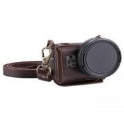 PULUZ® väska i läder med 40,5 mm UV Lens för GoPro HERO5 - Brun